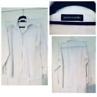 "Pierre Cardin White Mens Shirt Size 15 1/2"" 39 Cm Long Sleeve (A379)"