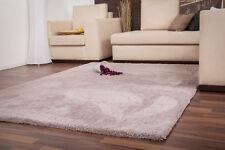 Einfarbige Wohnraum-Teppiche im Hochflor -/Shaggy -/Flokati-Stil aus Polyester