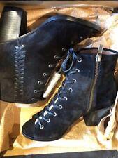 NWB Frye Dani   Whipstitch black suede  peeptoe bootie 6.5 M