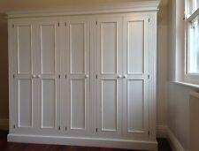 Painted 5 Door Full Hanging Wardrobe with fluting detail