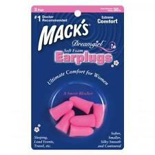 MACKS DreamGirls Soft Foam Earplugs - 2 X 3 pairs (PINK)