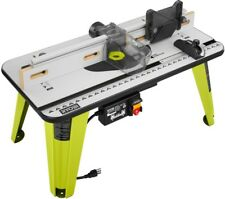 Power router tables ebay ryobi universal router table saw work power tool 5 throat plates 32 in x 16 in greentooth Image collections