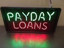Payday Loans 2 Color Neon Sign-New In Factory Sealed Box-FREE SHIPPING~M1561