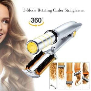 2 IN 1 Professional Flat Hair Iron Hair Straightener Curler Wave Styling Curling