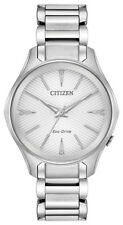 Citizen Eco-Drive Women's EM0590-54A Modena Silver-Tone Bracelet 36mm Watch