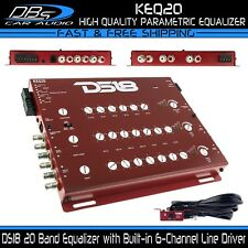 DS18 KEQ20 Car Stereo Equalizer 20 Band EQ Line Driver Audio 6-Channel Processor