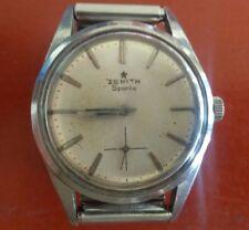 Zenith Sporto orologio uomo manuale acciaio vintage bellissimo!