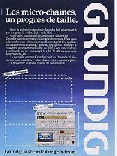 PUBLICITE ADVERTISING 035 1980 GRUNDIG les micro-chaînes
