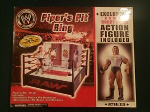 WWE WWF Jakks Roddy PIPERS PIT RING EXCLUSIVE figure box