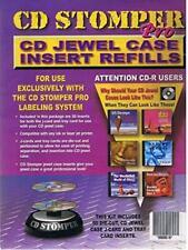 Stomp Inc Cd Stomper Pro Cd Jewel Case Inserts Refill