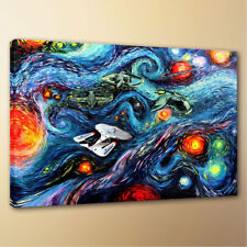 HD Canvas Print Art Painting Van Gogh Star Trek Home Decor 18x24 Unframed