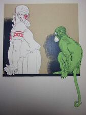 """LES STUPÉFACTIONS D'HIPPOCRATE /  """" Animal triste """"  signé René Vincent 1940"""