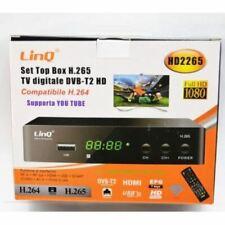 Decoder Digitale Terrestre T2 Set Top Box Full Hd Dvb-T2 Hd H.265 Linq Hd2265