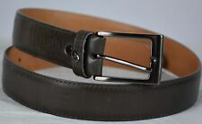 Dino Bigioni Men's Leather Solid Brass Made In Italy Buckle Belt Sz 32 New $300