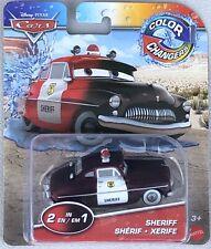 Disney Pixar Cars SHERIFF Color Changers  (2 In 1) Mattel - Sealed New