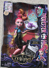 "MONSTER HIGH Collection_13 Wishes Series_GIGI GRANT 9"" Fashion Doll_New_Unopened"