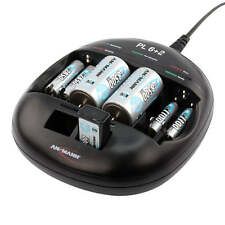 ANSMANN Battery Charger PL 6+2 for AAA, AA, C, D, E Rechargeable Batteries