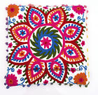 """SUZANI EMBROIDERED PILLOW CUSHION COVER Colorful Decorative Ethnic Throw 16"""""""