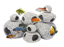 Penn-Plax Deco-Replicas 8-Piece Granite Stone Hideaway Assortment.