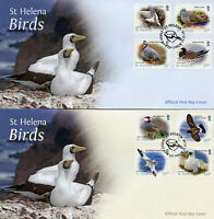 St Helena 2015 FDC Bird Definitives 12v Set on 3 Covers Birds Tropicbird Stamps