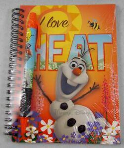 New Disney Frozen Olaf I Love Heat Journal Notebook & Pen Set Autograph Book