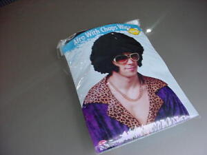 Afro with Sideburns Chops Wig an accessory for Halloween Costume Mod Hippie NEW