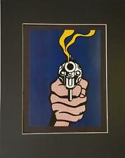"Roy Lichtenstein  "" The Gun In America "" Matted off-set Color Lithograph 1998"