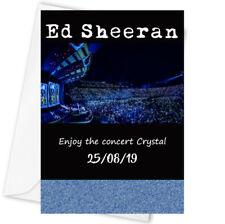Ed Sheeran personalised concert ticket card