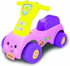 Fisher Price Girls Purple Push N Scoot Outdoor Garden Toddler Ride On Toy Sounds