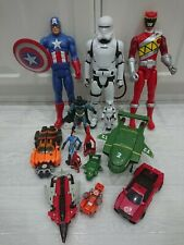Bundle Job lot toy figures Stormtrooper Captain America Thunderbirds Transformer