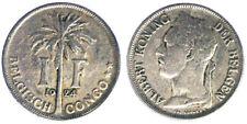 1 Franc 1924 Albert Koning Congo Belga Belgian Congo #5576A