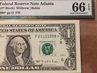 1995 $1 ***STAR***DOLLAR BIRTHDAY SERIAL NUMBER PMG EPQ66