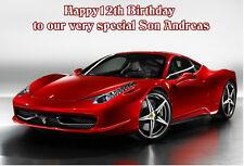 Ferrari Birthday Anniversary A5 Card Personalised Husband Boyfriend Son Dad Bro