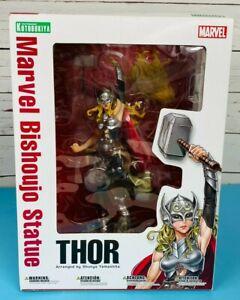 "Kotobukiya Marvel Bishoujo Statue Female Lady Thor PVC Figure Statue In Box 12"""