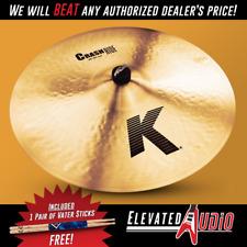 """Zildjian K 20"""" Crash/Ride Cymbal + FREE Vater Sticks! MAKE OFFER! CA's #1 Dealer"""