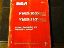 RCA Primus 20, Primus 30, Primus 21 & Primus 31 install manual