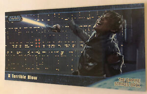 Empire Strikes Back Widevision Trading Card 1997 #47 A Terrible Blow Skywalker