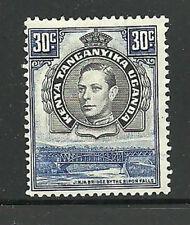 Album Treasures Kenya, Uganda, Tang. Scott # 76b 30c George VI Jinja Bridge MLH