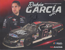 SIGNED 2018 RUBEN GARCIA JR HONDA GENERATORS #6 NASCAR WHELEN L MODEL POSTCARD