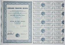 Action - Compagnie Financière MOCUPIA, action de 100 Frs N° 002049