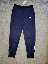 0d1c91cd7fd7 Fila Luzzi Trackpants L Navy Cuffed Tracksuit Trousers 34w 30L