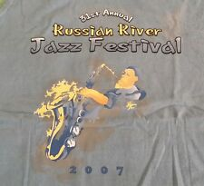 "2007 Russian River Jazz Festival CA Tank Top Shirt  Blue Size ""XL"" Chaka Khan"