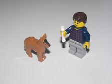 Lego ® City Minifig Figurine Homme Promeneur avec son Chien + os NEW