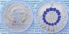 2012 Ukraine 10 UAH PROOF Color 1 OZ Silver Lyric Song/Flower-mintage 5000