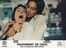 ANNIE GIRARDOT  ALAIN DELON TRAITEMENT DE CHOC 1973 PHOTO D'EXPLOITATION #1