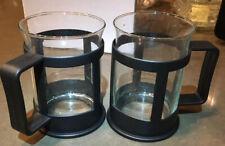 NIB Set Of 2 Hot Toddy /Coffee Glass - 10 Oz Mugs Vintage