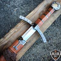 "23"" King Arthur Excalibur Medieval Crusader Sword Scabbard Historical Fantasy"