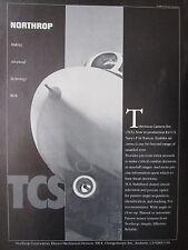 10/1982 PUB NORTHROP TCS TELEVISION CAMERA SET F-14 TOMCAT US NAVY ORIGINAL AD