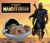 "Star Wars The Mandalorian Child in Cradle Basket 6"" Figure 1/6 - Baby Yoda 17"