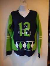 NEW Women's Seattle Seahawks Seattle 12 Sweater size XL Green Blue Acrylic